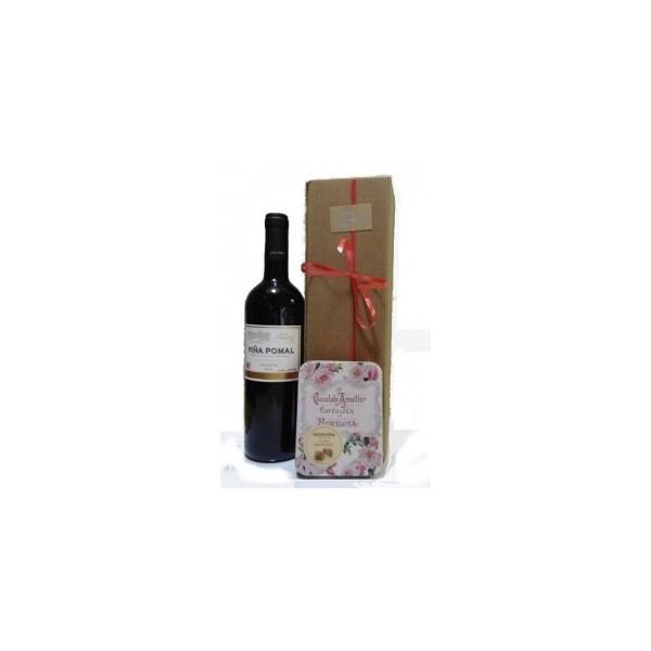 Estuche de Vino especial san valentín ref. 1