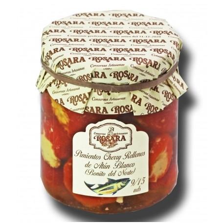 Pimientos Cherry Rellenos de Bonito Rosara 185 grs.