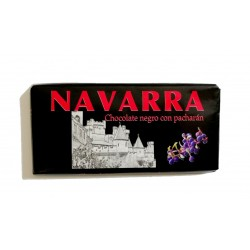 Tableta Chocolate Negro con Pacharán Navarra 125 grs.