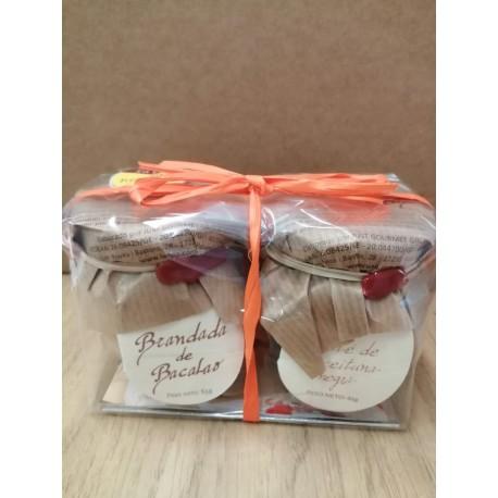 Pack de Brandada de Bacalao y Pate de Aceitunas Negra