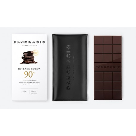 Chocolate Intense Cocoa 90% Chocolate Negro Pancracio 100gr