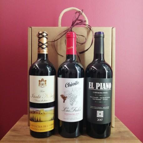 Caja 3 Botellas Vinos de Navarra