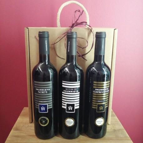 Selección 3 Botellas Vinos Bodega Inurrieta Ref.102