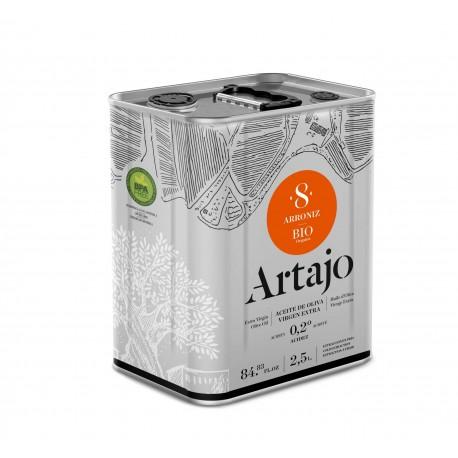 Lata Aceite de Oliva 8 Bio Arroniz Artajo 2.5l