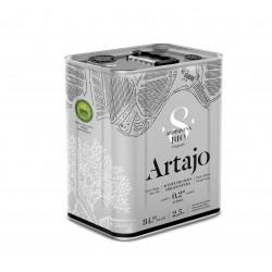 Lata Aceite de Oliva 8 Bio Arbequina Artajo 2.5l