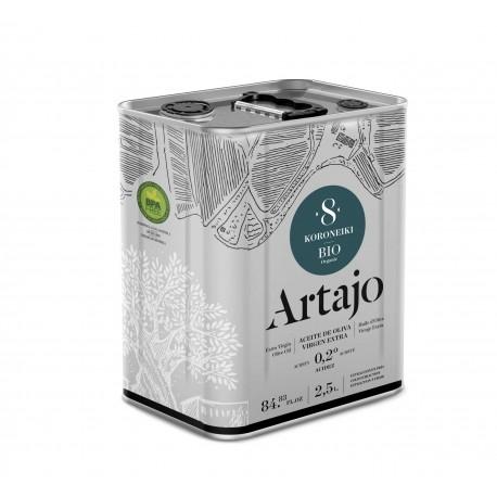 Lata Aceite 8 Bio Koroneiki Artajo 2.5l