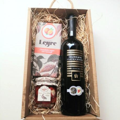 Estuche Vinos y Delicatessen C&G FOUR