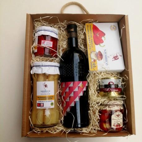 Caja Regalo Vino y Delicatessen C&G Thirteen
