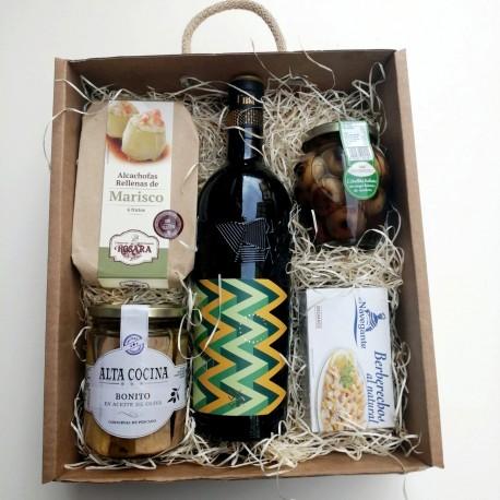 Caja Regalo Vino y Delicatessen C&G Fifteen