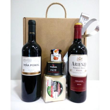 Estuche Vinos y Delicatessen 2